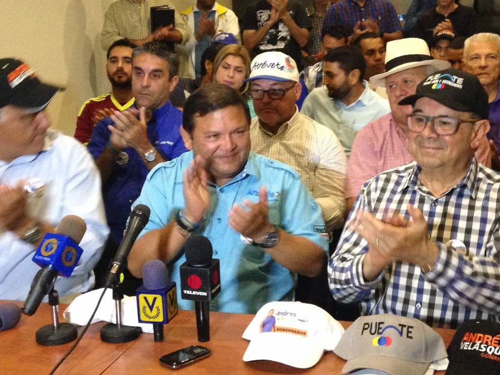 Puente apoya a Andrés Velásquez en Guayana