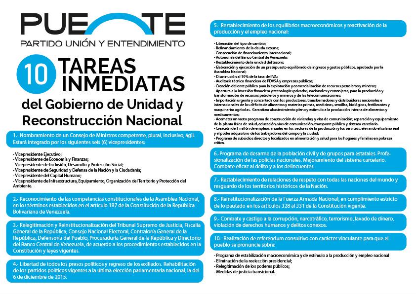 PUENTE Presenta Programa Alternativo de Gobierno